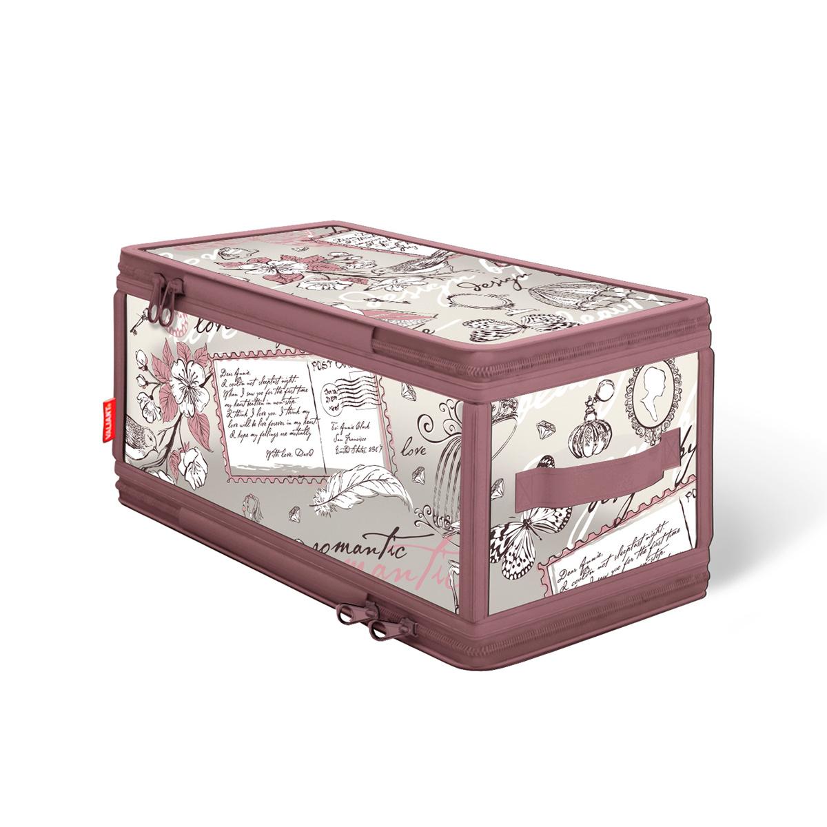 Кофр для хранения Valiant Romantic, с застежкой-молнией, 30 х 15 х 15 смRM-ZIP-SКофр для хранения Valiant Romantic изготовлен из высококачественного полимерного материала. Кофр удобен в использовании: чтобы его сложить, достаточно застегнуть молнию. В сложенном виде занимает минимум места. В таком кофре удобно хранить белье и мелкие аксессуары. Система хранения Romantic создаст трогательную атмосферу романтического настроения в женском гардеробе. Оригинальный дизайн придется по вкусу ценительницам эстетичного хранения. Системы хранения в едином дизайне сделают вашу гардеробную изысканной и невероятно стильной.
