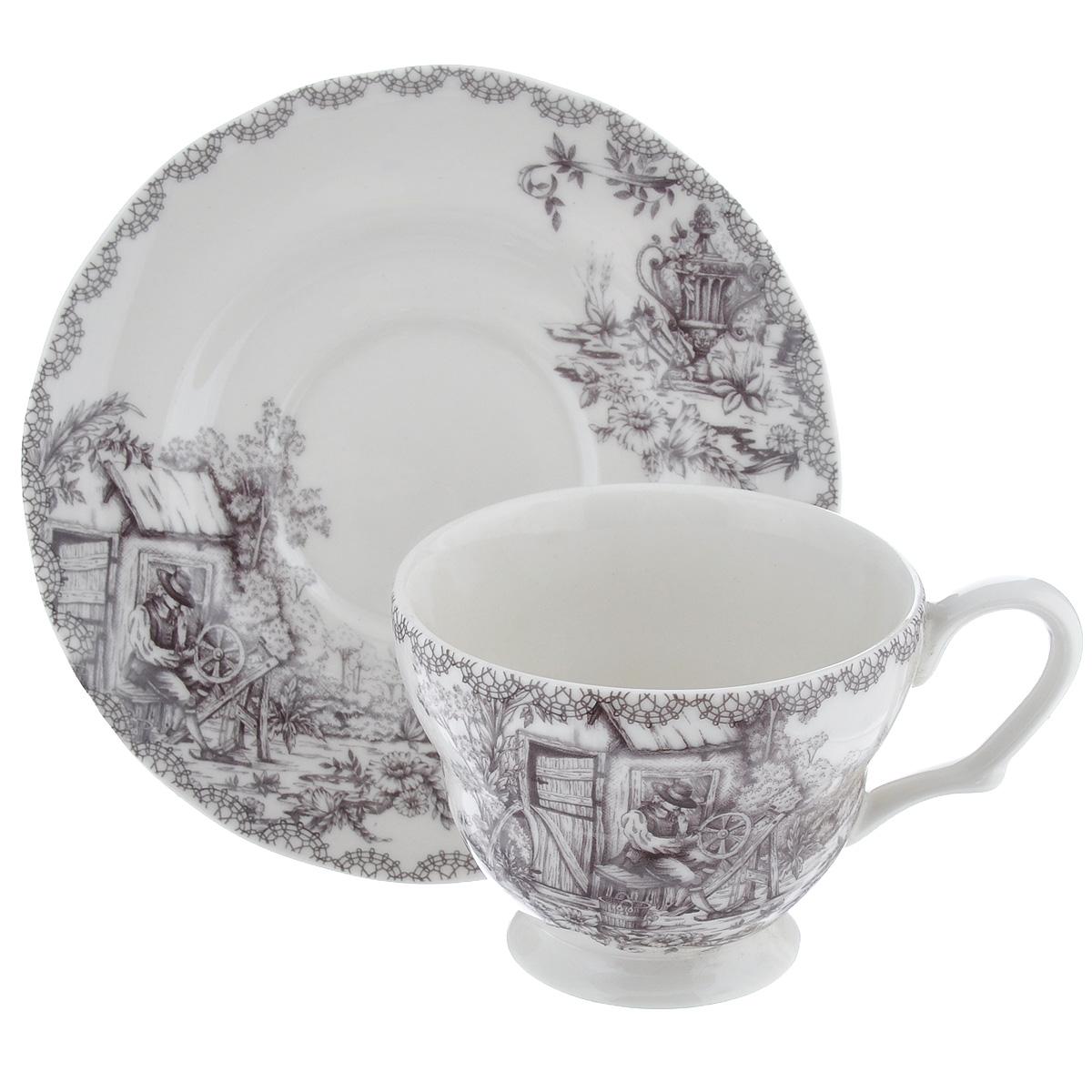 Чайная пара Utana Инглиш принтс Флинт, 2 предметаUTEF97301/2Чайная пара Utana Инглиш принтс Флинт состоит из чашки и блюдца, выполненных из высококачественной керамики. Красочность оформления придется по вкусу и ценителям классики, и тем, кто предпочитает утонченность и изысканность. Оригинальный принт придает набору особый шарм, который понравится каждому. Предметы набора можно использовать в микроволновой печи и мыть в посудомоечной машине. Объем чашки: 200 мл. Диаметр чашки (по верхнему краю): 9 см. Высота чашки: 7,5 см. Диаметр блюдца: 15 см.