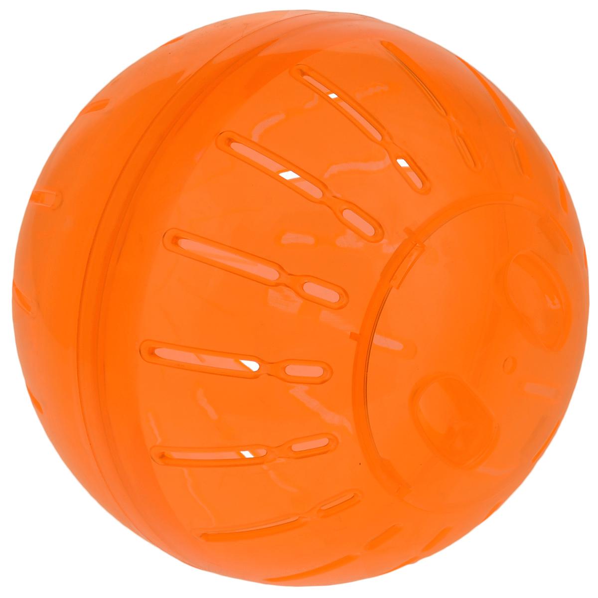 Игрушка для грызунов Triol Шар прогулочный, цвет: оранжевый, диаметр 19 смA5-750_оранжевыйШар прогулочный Triol - это игрушка для грызунов, изготовленная из нетоксичного высококачественного пластика. Шар легко моется. Устойчивая конструкция с защелкивающимися дверцами обеспечит безопасность и предохранит вашего питомца от побега. Большие вентиляционные отверстия обеспечивают хорошую циркуляцию воздуха, а специально разработанные выступы для лап - удобство при передвижении. Прогулка в таком шаре обеспечит грызуну нагрузку, а значит, поможет поддержать хорошую физическую форму. Чтобы правильно подобрать шар, следует измерить длину животного: диаметр шара должен быть чуть больше, чем длина вашего питомца. Диаметр шара: 19 см.