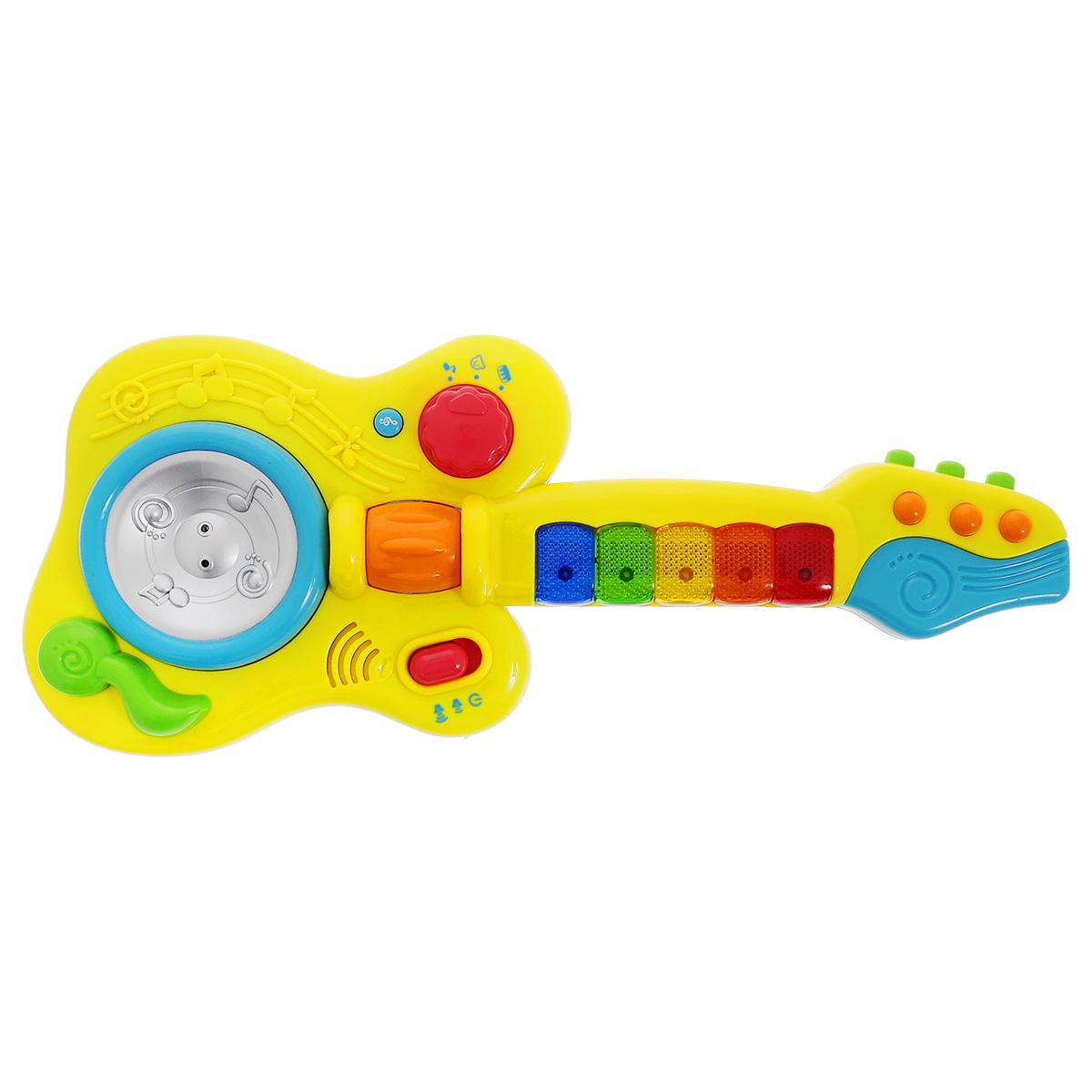 Развивающая игрушка Малышарики ГитараMSH0303-029Развивающая игрушка Малышарики Гитара изготовлена в ярком дизайне и из безопасных материалов. Игрушка выполнена в виде гитары, которая воспроизводит звуки животных и музыкальных инструментов. Гитара работает в трех режимах. Развивающая игрушка Гитара поможет малышу ближе познакомиться с миром звуков, а также развить мелкую моторику, слуховое восприятие и логическое мышление. Рекомендуемый возраст: 1-3 года. Для работы игрушки необходимы 3 батарейки напряжением 1,5V типа АА (не входят в комплект).