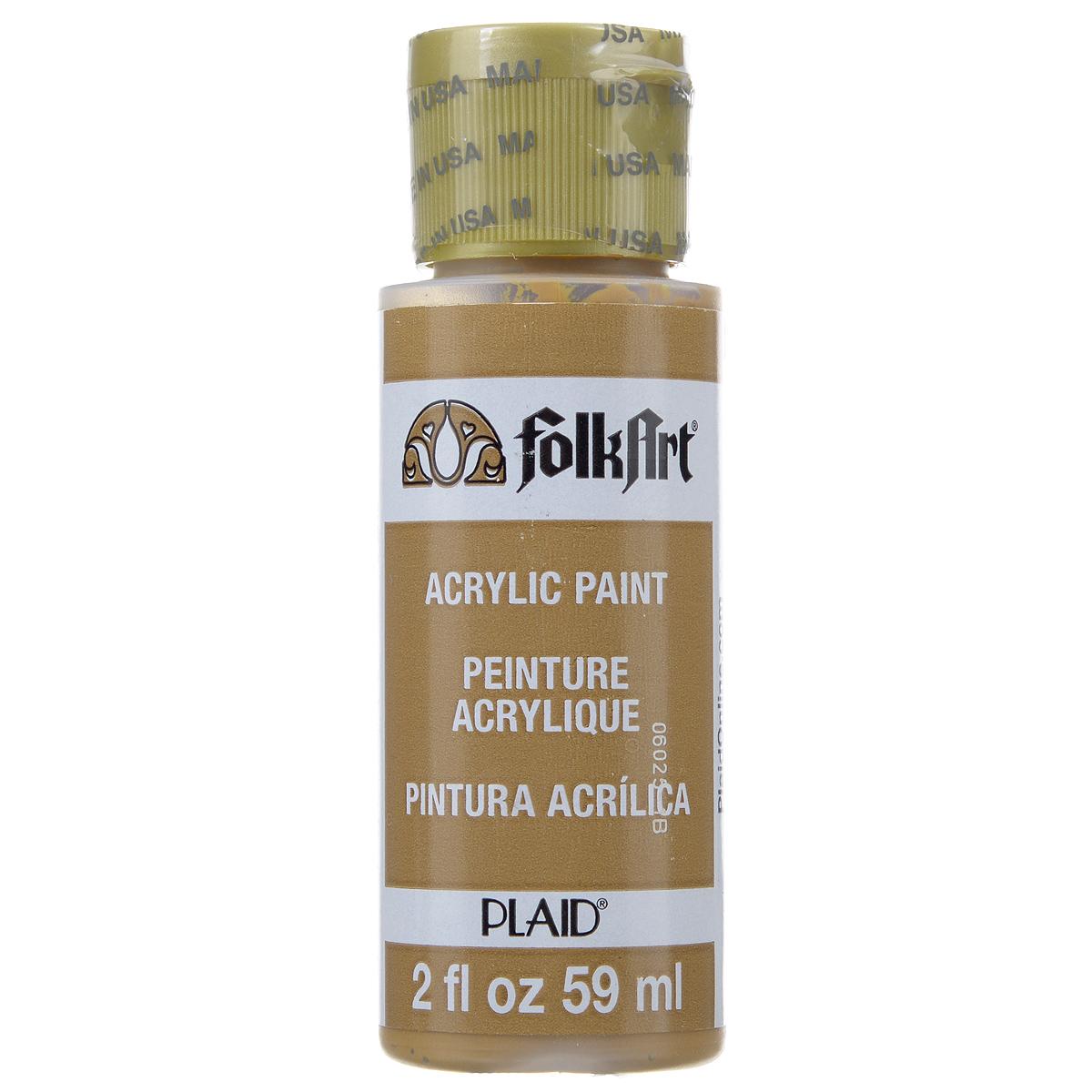 Акриловая краска FolkArt, цвет: корица, 59 млPLD-02558Акриловая краска FolkArt выполнена на водной основе и предназначена для рисования на пористых поверхностях. Краска устойчива к погодным и ультрафиолетовым воздействиям. Не нуждается в дополнительном покрытии герметиком. После высыхания имеет глянцевый вид. Изделия покрытые краской FolkArt, прекрасно дополнят ваш интерьер. Объем: 59 мл.