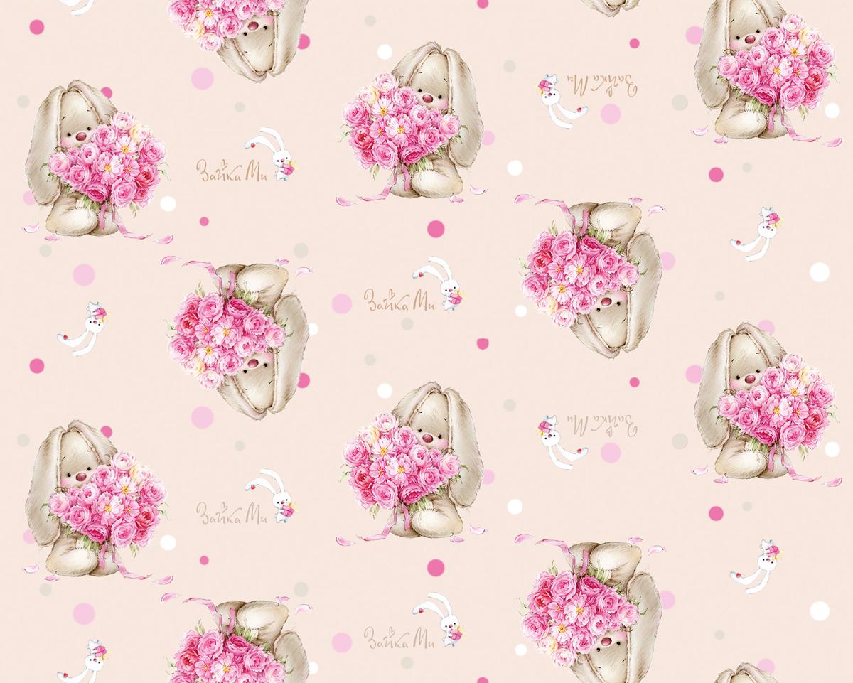 Плед флисовый Mona Liza Зайка с цветами, цвет: розовый, размер 150 см х 200 см520312Режим стирки: при 30 градусах; плотность плетения ткани: средняя