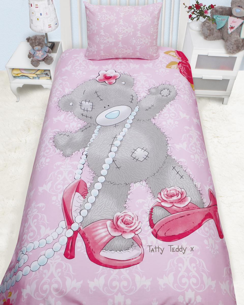 Комплект белья Mona Liza Teddy модный (детский 1,5-спальный, бязь, наволочка 50x70), цвет: розовый. 521408521408