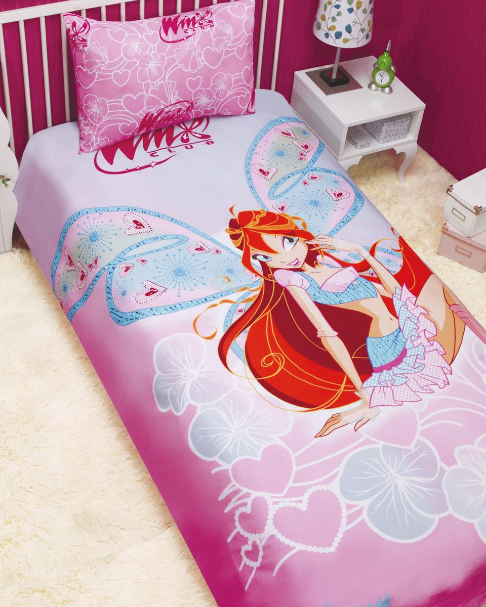 Комплект белья Mona Liza Winx Bloom (детский 1,5-спальный, бязь, наволочка 50x70), цвет: розовый. 521301521301