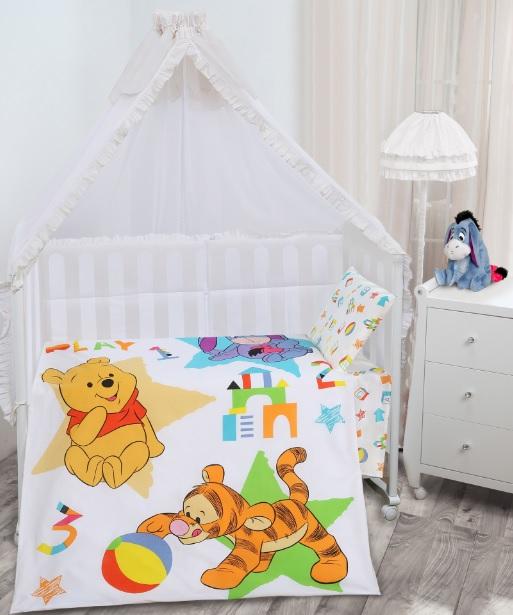 Комплект белья Mona Liza Винни Baby play (КПБ для новорожденных, бязь, наволочка 40x60), цвет: белый. 521164521164