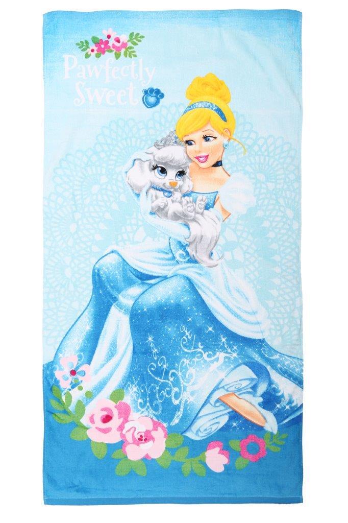 Полотенце махровое Mona Liza Золушка с собачкой, цвет: голубой, размер 70 см х 140 см508645/11Режим стирки: при 30 градусах; плотность плетения ткани: средняя