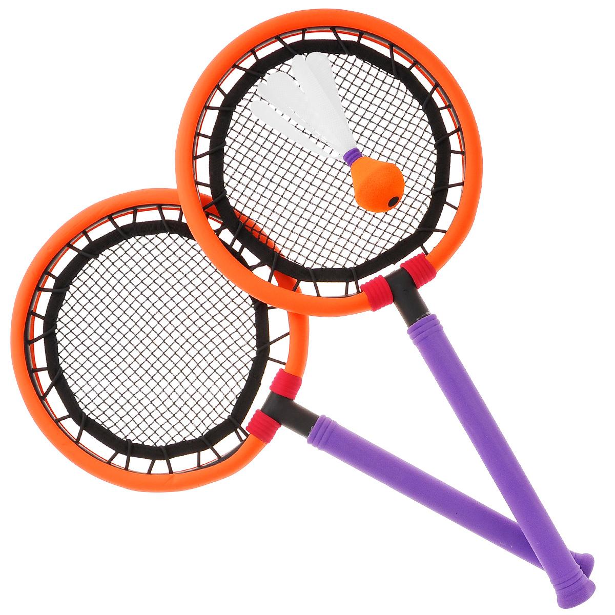 """Safsof Набор для игры в бадминтон """"SafSof"""", цвет: фиолетовый, оранжевый"""
