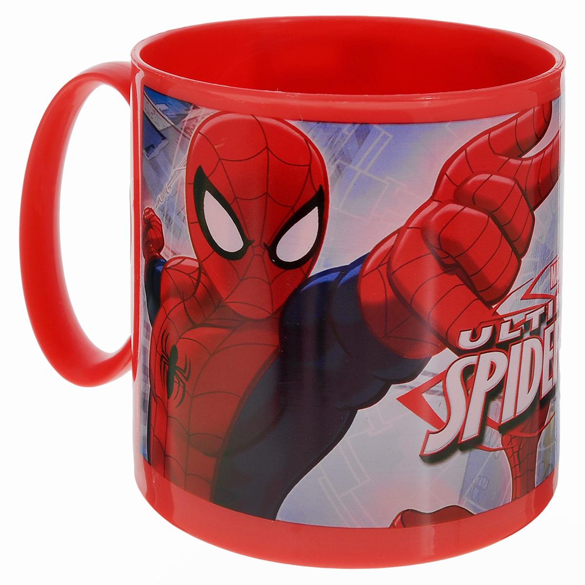 Кружка Marvel Spider-Man, цвет: красный, 350 мл47304_красныйЯркая кружка Marvel Spider-Man, изготовленная из безопасного пластика, непременно понравится юному обладателю. Оформлена изображением супергероя - человека-паука из одноименного мультсериала. Кружка дополнена удобной ручкой. Рекомендуется для детей от: 3 лет.