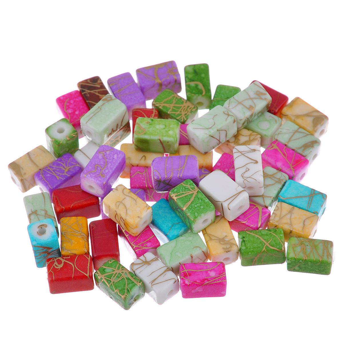 Бусины Астра Цветные камешки, 11 мм х 6 мм, 54 шт7710787Набор бусин Астра Цветные камешки, изготовленный из пластика, позволит вам своими руками создать оригинальные ожерелья, бусы или браслеты. Прямоугольные бусины изготовлены в виде камешков и имеют цветные разводы с оригинальным золотистым узором. Изготовление украшений - занимательное хобби и реализация творческих способностей рукодельницы, это возможность создания неповторимого индивидуального подарка. Размер бусины: 11 мм х 6 мм.