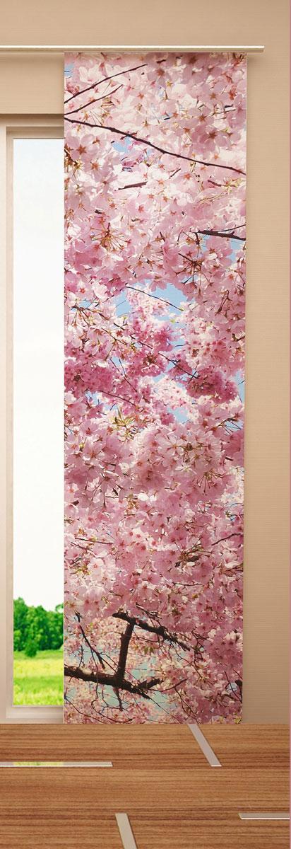 Японская панель Garden Цветущее дерево, 60 см х 270 смW678 (1985) 60х270 V133Японская панель Garden Цветущее дерево выполнена из 100% полиэстера с ярким цветочным рисунком. Такая панель сможет заменить обычные шторы и оригинально украсить любой интерьер - от классики до авангарда. Японская панель будет смотреться как в просторных помещениях с большими окнами, так и в маленьких комнатах такие шторы могут создать уют и комфорт. Современные японские панели позволяют оформлять не только оконные и дверные проемы, но и могут выступать в качестве декоративных перегородок: для отделения рабочей зоны, спального места, кухни и т.д. Преимущество данных штор в том, что они, как и жалюзи, занимают мало места. Конструкция позволяет их легко монтировать и снимать. Внизу панель утяжелена специальной планкой. А вверху панель крепиться на липучке к специальной жесткой планке для крепления и перемещения по карнизу. Для подвешивания японских штор необходим специальный карниз. Он представляет собой алюминиевый профиль с несколькими рядами для панелей (до...