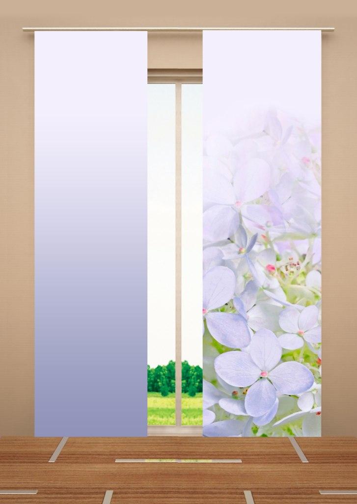 Японская панель 60x270 (2шт) цветы W678 (1985) 60х270 V399,v400