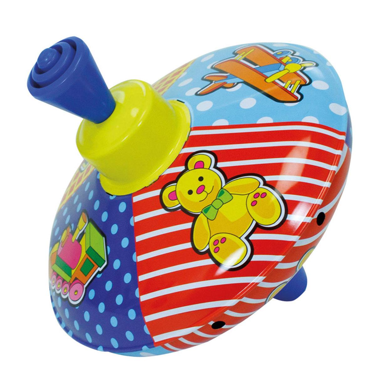 Simba Юла, цвет: синий, красный, желтый4011893_синий, красныйЯркая развивающая юла Simba станет для вашего малыша любимой игрушкой. Юла выполнена из безопасного материала в яркой цветовой гамме и оформлена различными изображениями. Раскручивается юла посредством нажатия на ручку. При вращении юла издает приятный звук. Юла - динамическая игрушка для самых маленьких, которая стимулирует познавательную активность, развивает наглядно-действенное мышление, координацию движений и мелкую моторику рук. Порадуйте своего непоседу таким великолепным подарком!