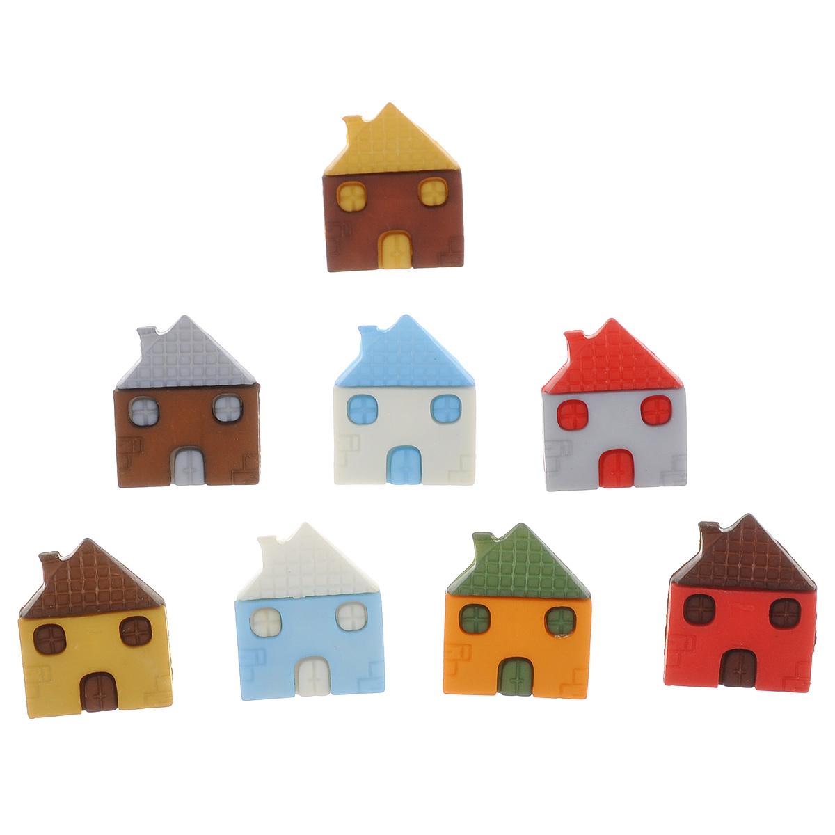 Пуговицы декоративные Buttons Galore & More Craft Buttons, 8 шт7705881Набор Buttons Galore & More Craft Buttons состоит из 8 декоративных пуговиц на ножке, выполненных из пластика в форме разноцветных домиков. Предметы набора подходят для любых видов творчества: скрапбукинга, декорирования, шитья, изготовления кукол, а также для оформления одежды. С их помощью вы сможете украсить открытку, фотографию, альбом, подарок и другие предметы ручной работы. Изделия имеют оригинальный и яркий дизайн. Размер пуговицы: 1,3 см х 1,6 см х 1 см.