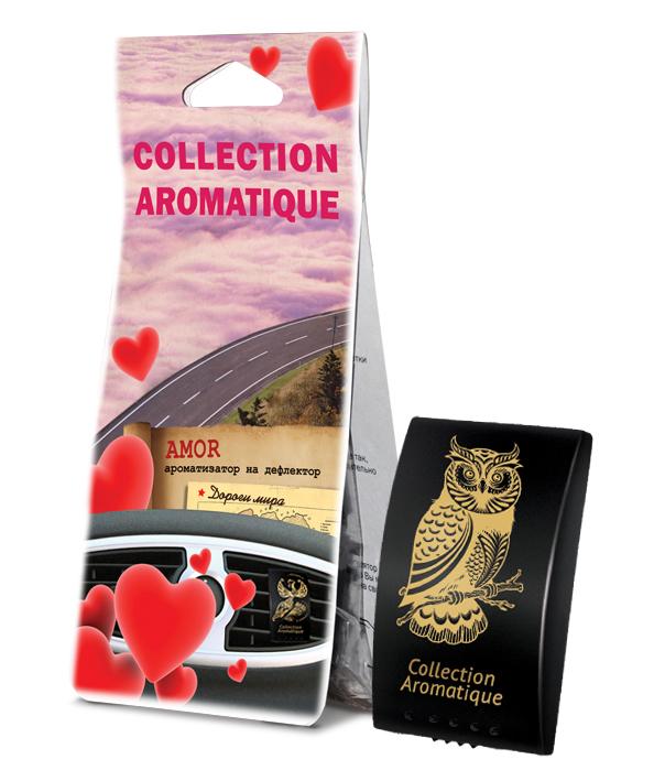 Аромат AMOR D-36 на дефлектор Дороги мира серии Collection Aromatique, plastic