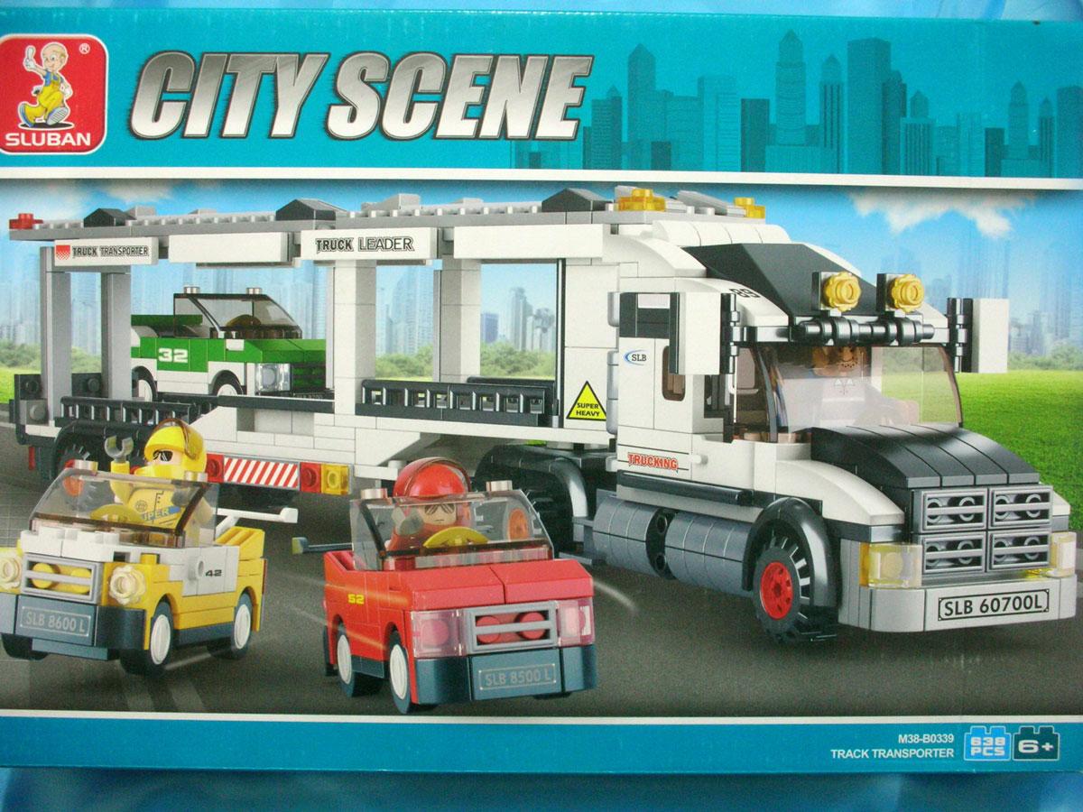 Конструктор Автовоз, 638 деталиM38-B0339Жителям города наверняка понадобятся машины, а доставит их для них специальный транспортировочный грузовик! Этот увлекательный конструктор понравиться всем мальчишкам, ведь в одной коробке они получат грузовой транспортер и три машинки, которые так ждут жители городка.Складывая небольшие детали, дети учатся внимательно и усидчиво работать, а заодно готовят свои ручки к письму, развивают образное, логическое и пространственное мышление.