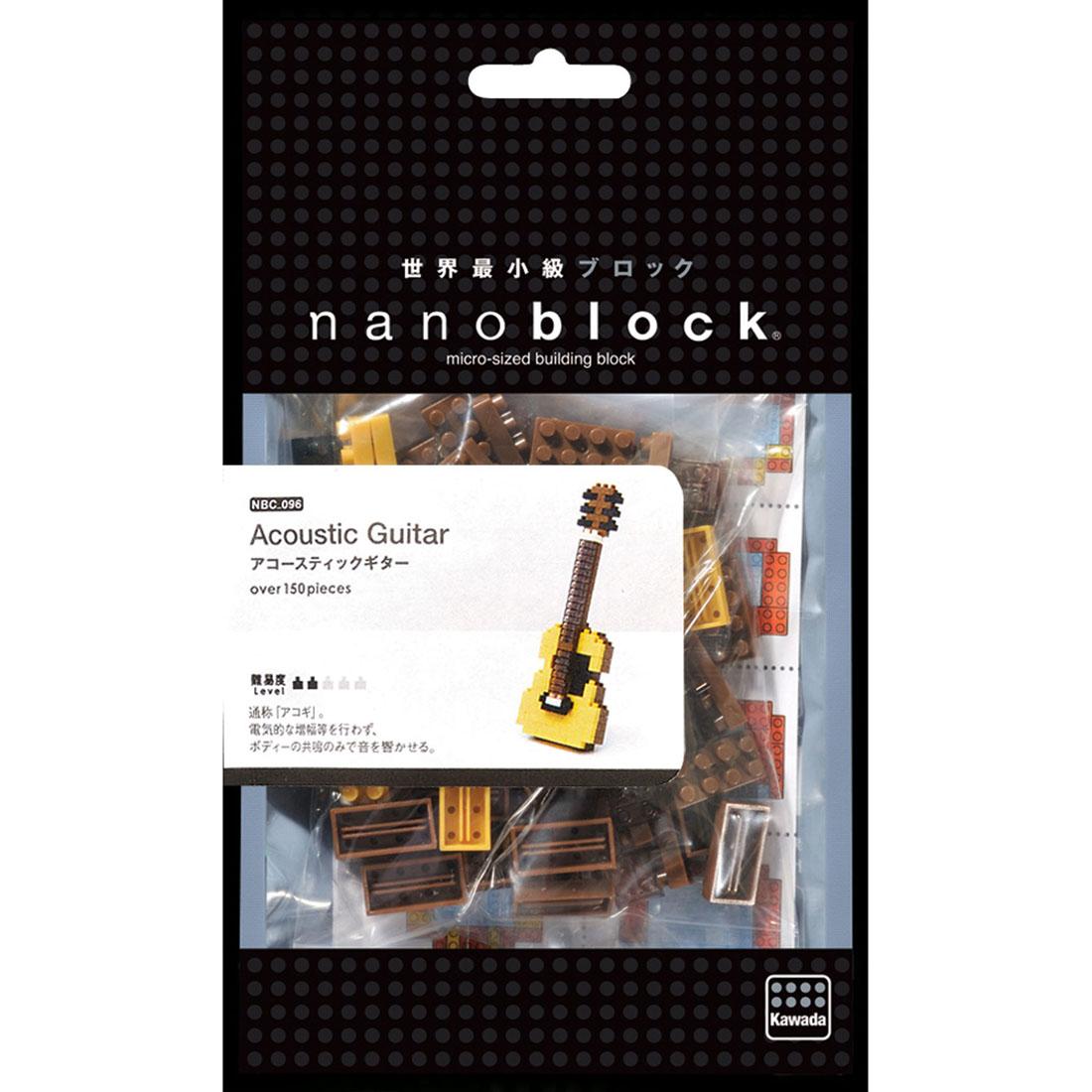NanoBlock Мини-конструктор Акустическая гитара ( NBC_096 )