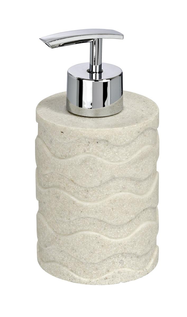 Диспенсер для жидкого мыла Wenko Wave Stone, 300 мл20469100Диспенсер для жидкого мыла Wenko Wave Stone изготовлен из высокопрочного полирезина в строгой классической форме. Он очень удобен в использовании: просто надавите сверху, и из диспенсера выльется необходимое количество мыла. Диспенсер для жидкого мыла Wenko Wave Stone стильно украсит интерьер, а также добавит в обычную обстановку яркие и модные акценты.
