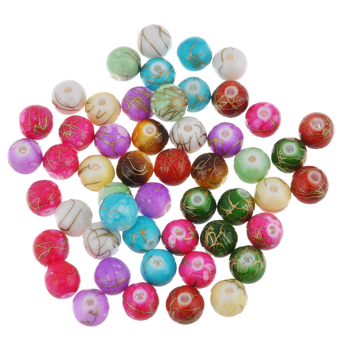 Бусины Астра Цветные камешки, диаметр 7 мм, 90 шт7710788Набор бусин Астра Цветные камешки, изготовленный из пластика, позволит вам своими руками создать оригинальные ожерелья, бусы или браслеты. Круглые цветные бусины изготовлены в виде камешков и имеют разводы с оригинальным золотистым узором. Изготовление украшений - занимательное хобби и реализация творческих способностей рукодельницы, это возможность создания неповторимого индивидуального подарка. Диаметр бусины: 7 мм.