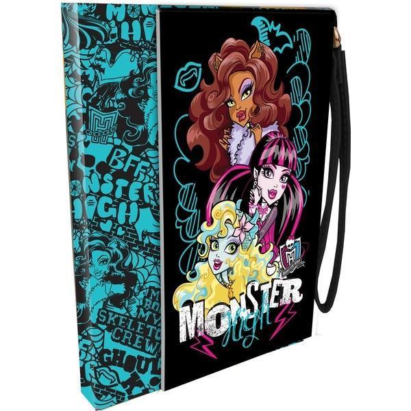 Записная книжка (ноутбук) с ручкой из исскуственной кожи. 100 листов. Размер 15,1 х 11,3 x 1,5 см. Monster HighMHBA-US1-PN-38050
