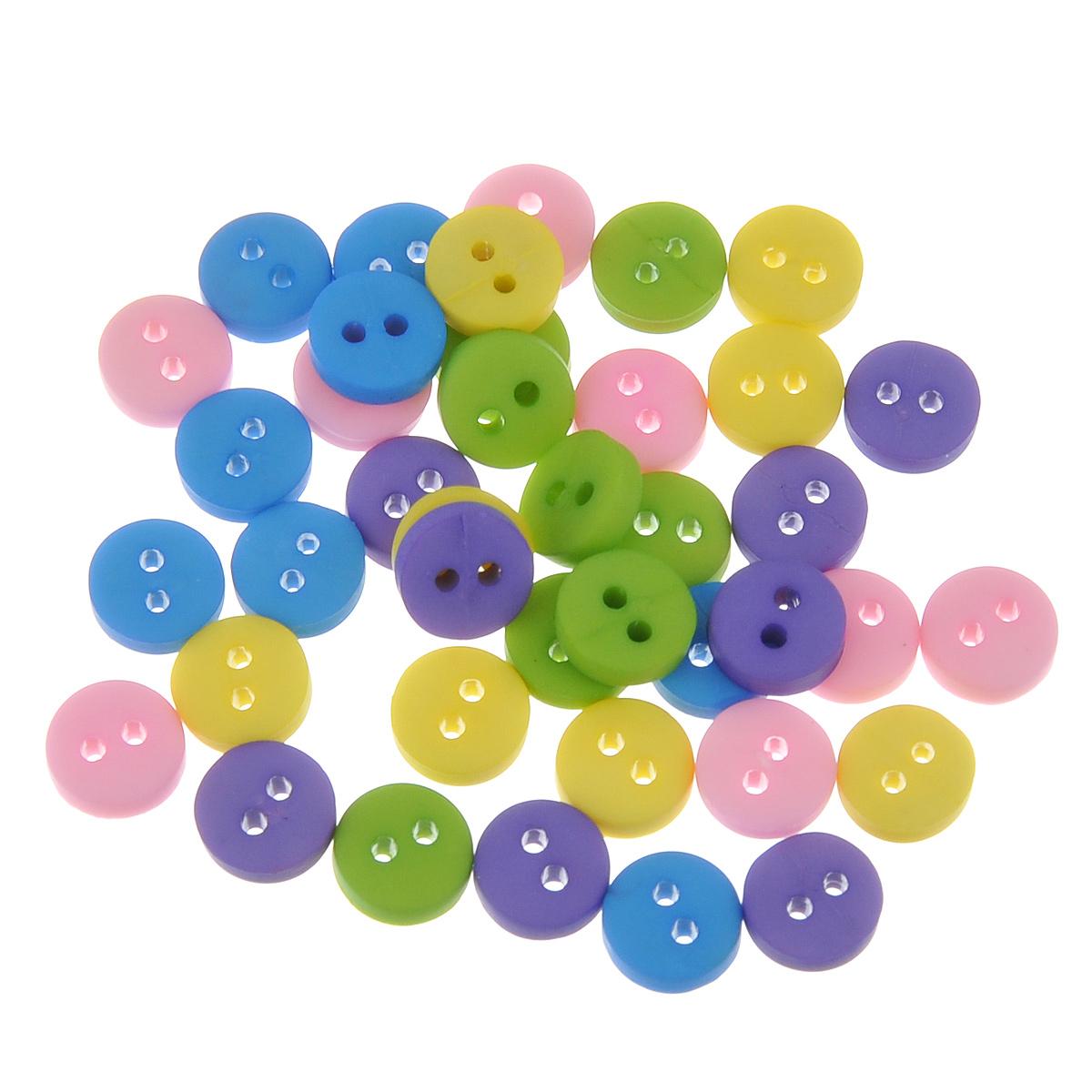 Пуговицы декоративные Buttons Galore & More Tiny Buttons, цвет: желтый, зеленый, голубой, диаметр 6 мм, 40 шт7708717Набор Buttons Galore & More Tiny Buttons состоит из круглых декоративных пуговиц, выполненных из пластика. Такие пуговицы подходят для любых видов творчества: скрапбукинга, декорирования, шитья, изготовления кукол, а также для оформления одежды. С их помощью вы сможете украсить открытку, фотографию, альбом, подарок и другие предметы ручной работы. Пуговицы разных цветов имеют оригинальный и яркий дизайн. Диаметр пуговицы: 0,6 см.