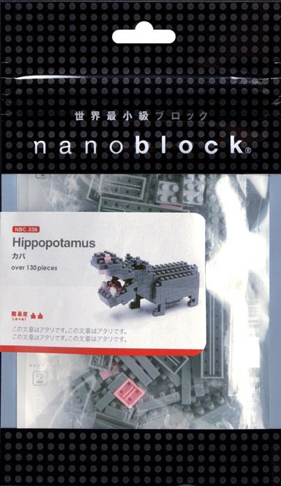 Nanoblock Мини-конструктор Бегемот гаджет fototo nanoblock фотоаппарат конструктор