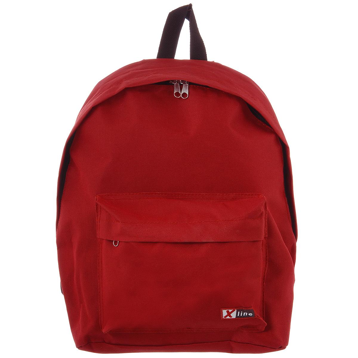 Рюкзак Proff X-line, цвет: красный. XL14-169XL14-169Рюкзак Proff X-line выполнен из прочного полиэстера красного цвета. Рюкзак имеет одно большое отделение, которое закрывается на молнию с двумя бегунками. Помимо основного отделения, рюкзак имеет один внешний накладной карман на молнии и под небольшим клапаном. Рюкзак оснащен широкими плечевыми ремнями, которые регулируются по длине, и ручкой для переноски в руке, а удобная уплотненная спинка будет оберегать позвоночник при длительных нагрузках.