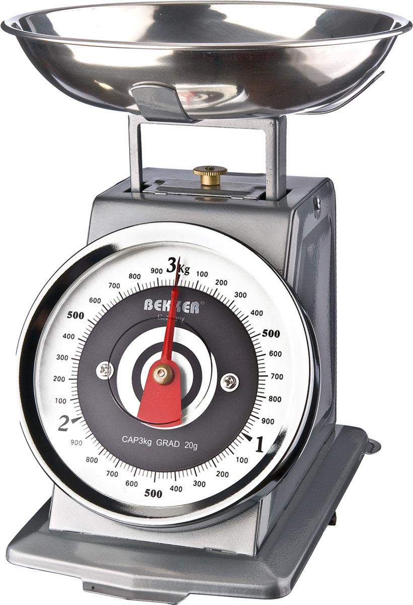 Весы кухонные Bekker, до 3 кгBK-9104Механические кухонные весы Bekker придутся по душе каждой хозяйке и станут незаменимым аксессуаром на кухне. Корпус весов выполнен из нержавеющей стали. Съемная чаша выполнена из нержавеющей стали. Весы выдерживают до 3 килограмм. С помощью таких механических весов можно точно контролировать пропорции ингредиентов.