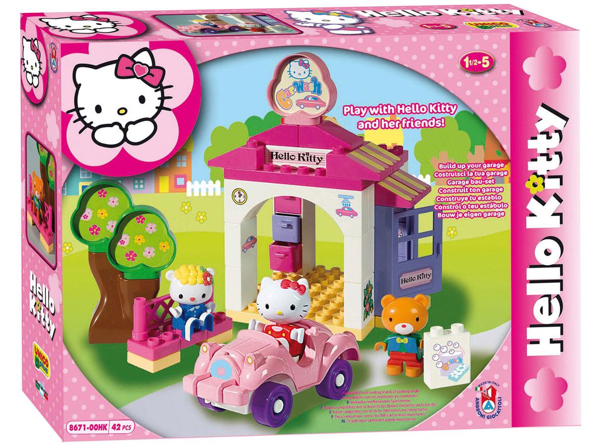 Hello Kitty Конструктор Автомойка8671-00HKКонструктор Hello Kitty Автомойка - отличный подарок для девочки на любой праздник. Яркие цвета, качество и долговечность очень нравятся как детям, так и родителям. В наборе 42 детали, которые можно использовать как отдельный строительный материал или добавить их к другим конструкторам серии.