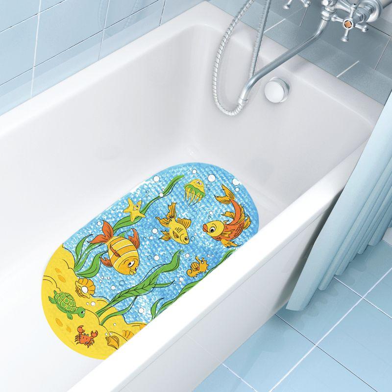 Valiant K6939-FS Коврик для ванны, 69*39 см, ПОДВОДНЫЙ МИР