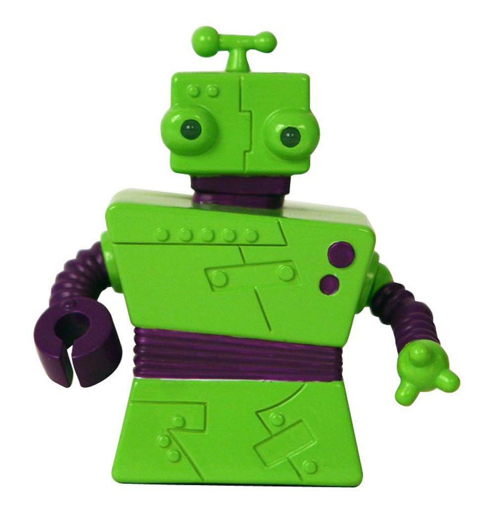 Zibits Мини-робот на радиоуправлении Гек30428Гек - инженер-дизайнер. Используя всякий хлам и мусор. Он собирает новые приборы и машины, и все что потребуется команде Z-7. Гек любит перемены и часто использует свою уникальную возможность менять цвет, предавая себе более свежий вид. Гек - дружелюбный болтун и может легко убедить остальных. Мини-робот Гек отличается оригинальным дизайном, а его некоторые детали светятся в темноте. Он двигается вперед и назад, разворачивается на 360 градусов, а также издает забавные звуки. Управление роботом происходит от пульта.