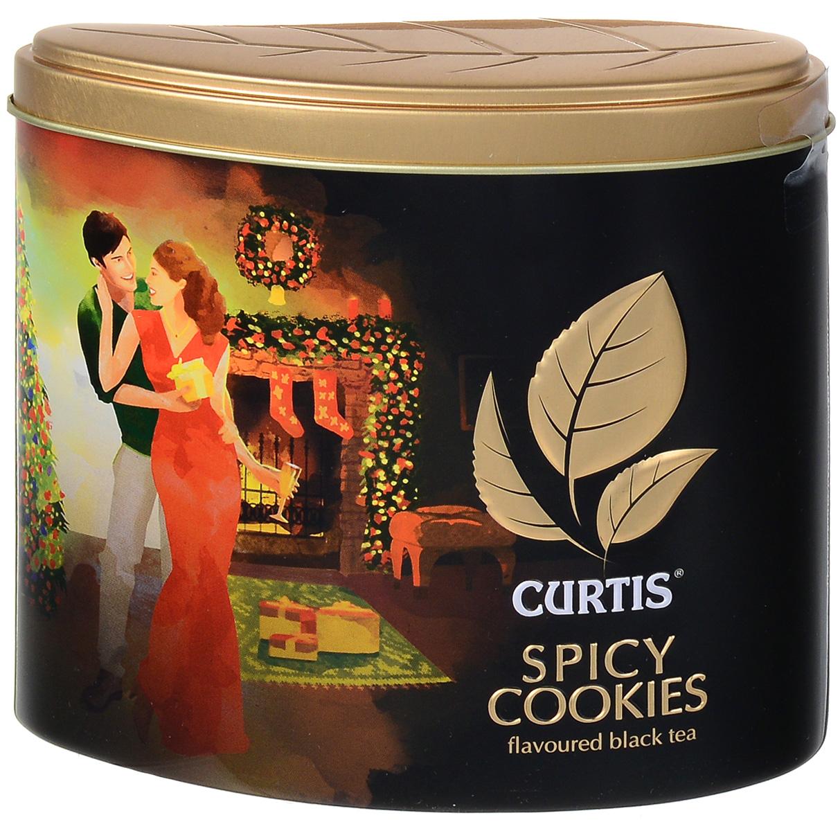 Curtis Spicy Cookies черный листовой чай, 80 г515901Curtis Spicy Cookies - крупнолистовой цейлонский черный чай со вкусом имбирного печенья и ароматом корицы, который подарит вам праздничную атмосферу и согреет зимним вечером.