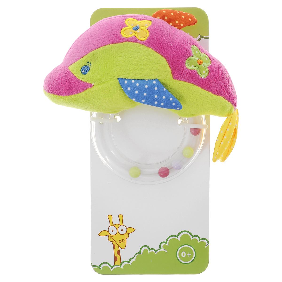 Развивающая игрушка Жирафики Дельфин-погремушка, цвет: малиновый, салатовый93584_малиновый/салатовыйРазвивающая игрушка Жирафики Дельфин-погремушка - это комбинация мягкой игрушки и погремушки. Игрушка сшита из ярких тканей разных цветов и декорированы цветочками. Как же весело и интересно ее рассматривать! А держать ее в маленьких ручках еще интереснее, ведь она таит в себе столько приятных сюрпризов! Игрушка помогает развивать навыки слухового, зрительного и тактильного восприятия, а также способствует расширению кругозора малыша.