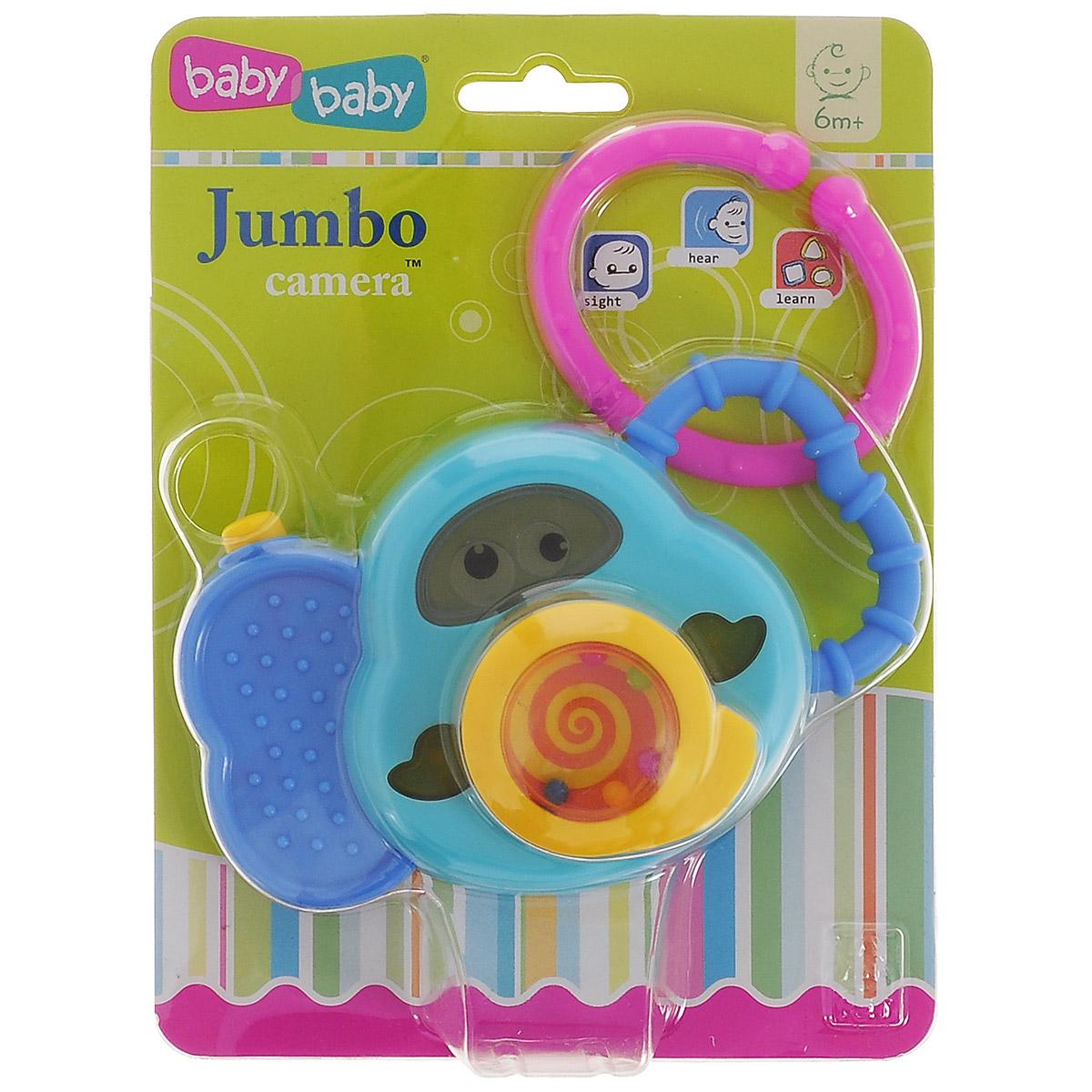 Развивающая игрушка Bkids «Слоненок фотоаппарат», цвет: голубой