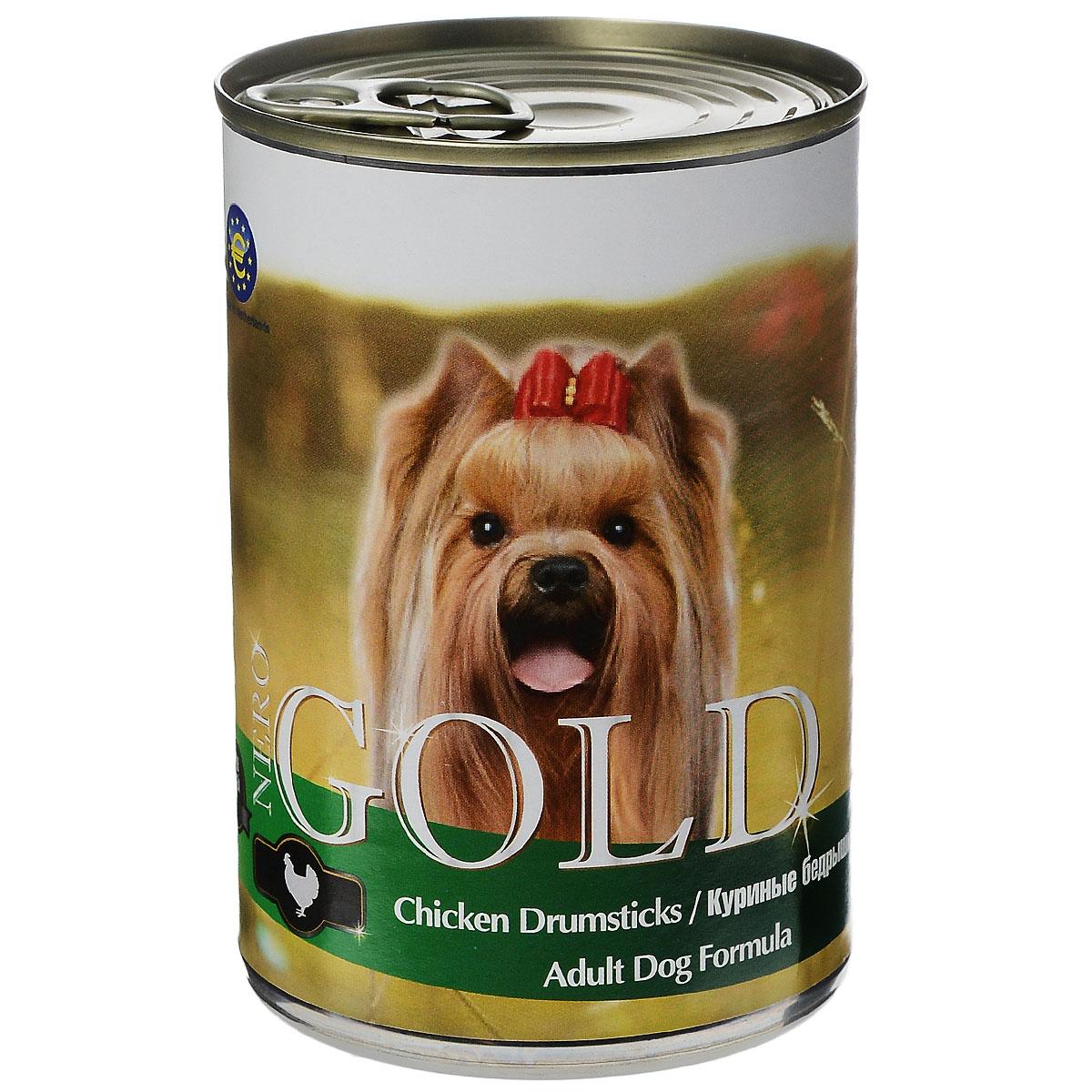 """Консервы для собак """"Nero Gold"""", с куриными бедрышками, 410 г 10273"""