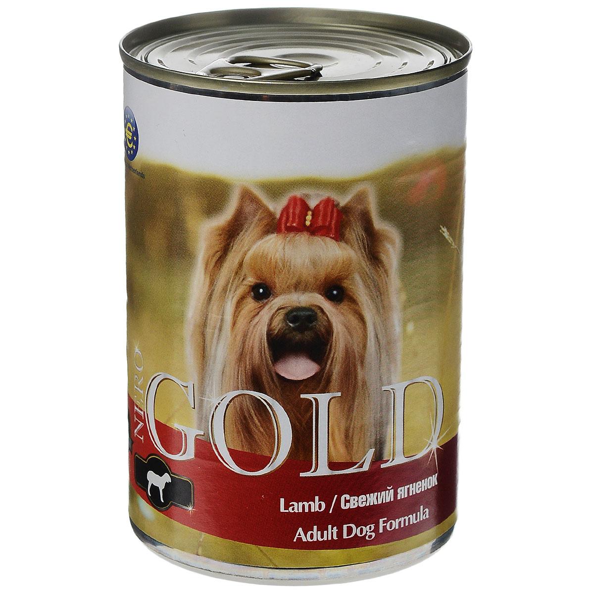 Консервы для собак Nero Gold, свежий ягненок, 410 г10323Консервы для собак Nero Gold - полнорационный продукт, содержащий все необходимые витамины и минералы, сбалансированный для поддержания оптимального здоровья вашего питомца! Состав: мясо и его производные, филе курицы, филе ягненка, злаки, витамины и минералы. Гарантированный анализ: белки 6,5%, жиры 4,5%, клетчатка 0,5%, зола 2%, влага 81%. Пищевые добавки на 1 кг продукта: витамин А 1600 МЕ, витамин D 140 МЕ, витамин Е 10 МЕ, железо 24 мг, марганец 6 мг, цинк 15 мг, медь 1 мг, магний 200 мг, йод 0,3 мг, селен 0,2 мг. Вес: 410 г. Товар сертифицирован.
