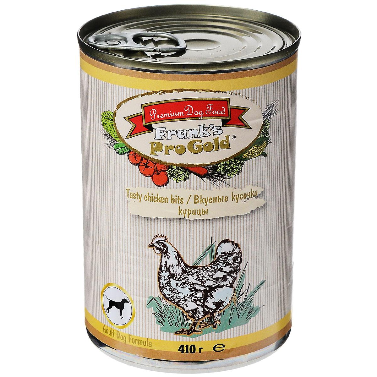 Консервы для собак Franks ProGold, с курицей, 410 г19421Консервы для собак Franks ProGold - полнорационный продукт, содержащий все необходимые витамины и минералы, сбалансированный для поддержания оптимального здоровья вашего питомца! Ваш любимец, безусловно, оценит нежнейшие кусочки мяса в желе! Произведенные из натуральных ингредиентов, консервы Franks Pro Gold не содержат ГМО, сою, искусственных красителей, консервантов и усилителей вкуса. Состав: мясо и его производные, курица, злаки, витамины и минералы. Пищевая ценность: белки 6,5%, жиры 4,5%, клетчатка 0,5%, зола 2%, влажность 81%. Добавки: витамин A 1600 IU, витамин D 140 IU, витамин E 10 IU, железо 24 мг/кг, марганец 6 мг/кг, цинк 15 мг/кг, медь 1 мг/кг, магний 200 мг/кг, йодин 0,3 мг/кг, селен 0,2 мг/кг. Калорийность: 393,6 ккал. Товар сертифицирован.