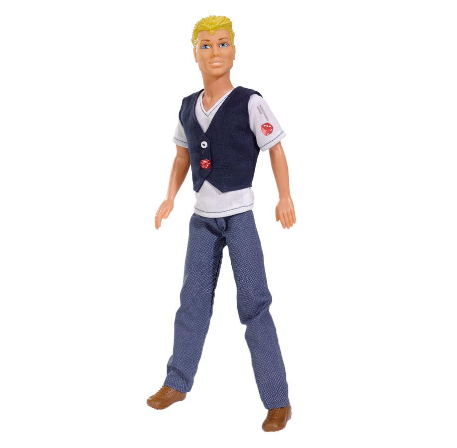 Simba Кукла Steffi Love: Casual Kevin, цвет одежды: белый, темно-синий5738032, блондин, синий жилетКевин - супер-модель