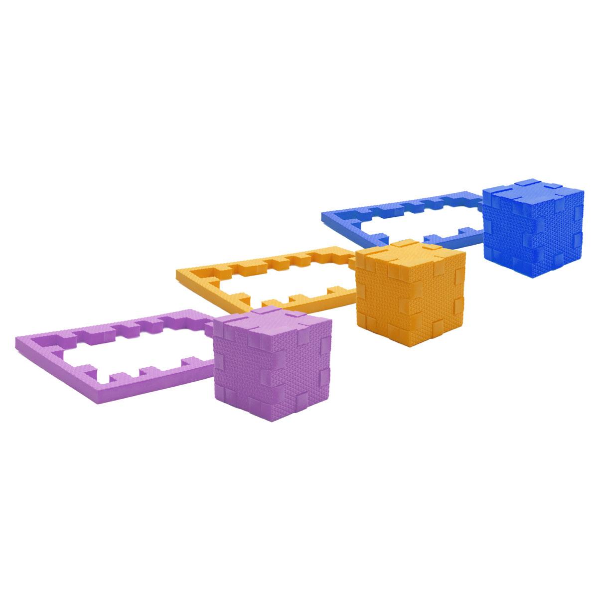 PicnMix Пазл-конструктор Кубикформ Планета111005Игра может проводиться в 2 этапа: на первом этапе ребенок осваивает навыки составления простых элементов головоломки и запоминает 3 цвета, входящие в набор, также он усваивает такие понятия как «планета» и некоторые ключевые элементы, водной, воздушной и земной стихий, которые её составляют; на втором этапе ребенок учится собирать сложные геометрические фигуры.Серия обучающих пазл-конструкторов «Кубикформ» TM Pic&Mix стимулирует развитие мышления, логики, пространственного воображения, памяти, координации, мелкой моторики, а также помогает усвоить навыки тактильного восприятия.