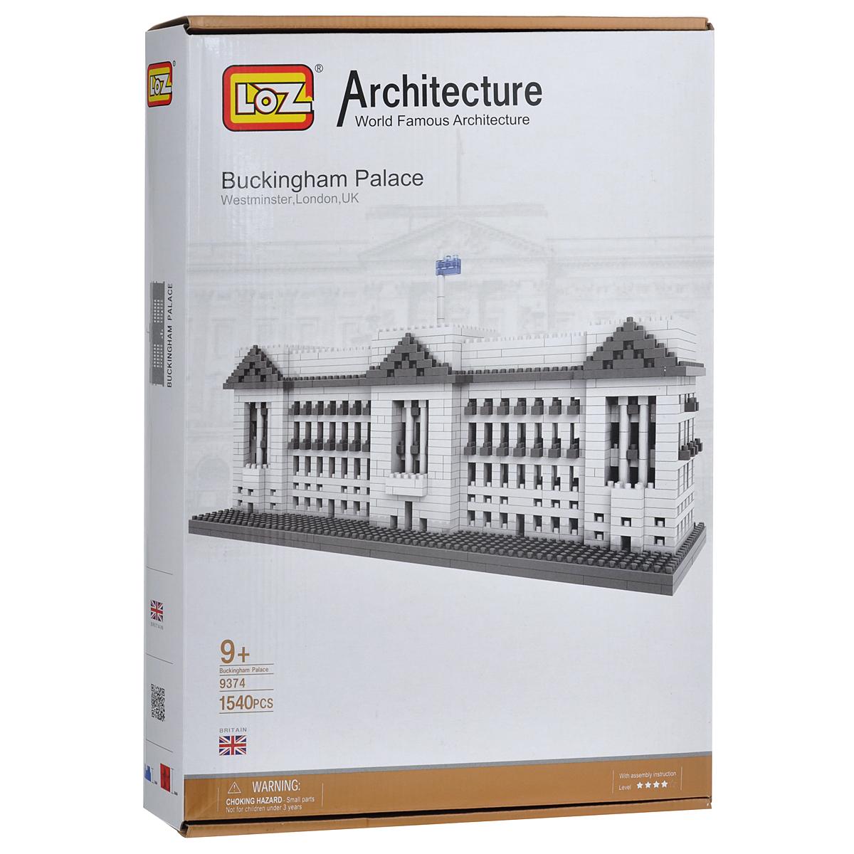 Loztoys Конструктор Букингемский дворец9374Конструктор-макет Букингемский дворец - прекрасный способ провести время увлекательно и с пользой. Комплект включает в себя 1540 элементов, из которых вы и ваш ребенок сможете собрать модель дворца, который находится в Лондоне, Великобритания. Для сборки модели клей и ножницы не понадобятся. Элементы оснащены пазами для легкого соединения. В комплект входит схематичная инструкция по сборке. Букингемский дворец - официальная лондонская резиденция британских монархов (в настоящее время - королевы Елизаветы II). Расположен напротив улицы Пэлл-Мэлл и Грин-парка с беломраморным и позолоченным памятником королеве Виктории. Когда монарх находится во дворце, над крышей дворца развевается королевский штандарт.