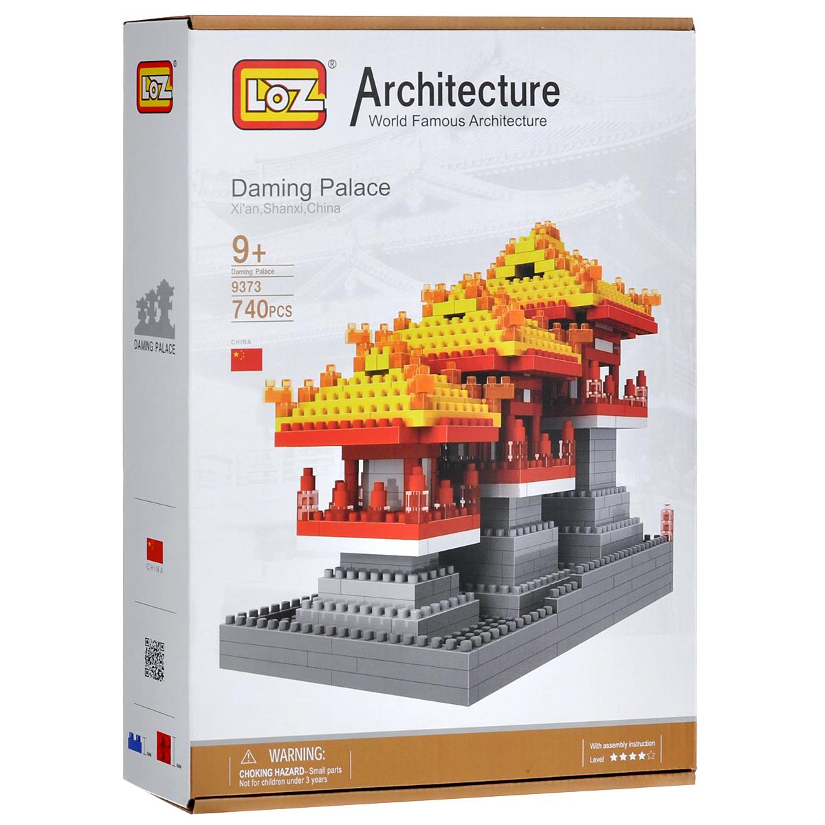 Loztoys Конструктор Дворец Дамин9373Конструктор-макет Дворец Дамин - прекрасный способ провести время увлекательно и с пользой. Комплект включает в себя 740 элементов, из которых вы и ваш ребенок сможете собрать модель дворца, который находится в Китае. Для сборки модели клей и ножницы не понадобятся. Элементы оснащены пазами для легкого соединения. В комплект входит схематичная инструкция по сборке. Дворец Дамин был основным королевским дворцом династии Тан (618 – 907 гг.) Археологи, начиная с 50-х гг. прошлого века провели масштабную работу, и теперь многочисленные туристы со всего мира могут полюбоваться полноразмерными и миниатюрными копиями зданий старинного дворца, увидеть представления из жизни императорской династии Тан и узнать о жизни Поднебесной времен раннего средневековья.