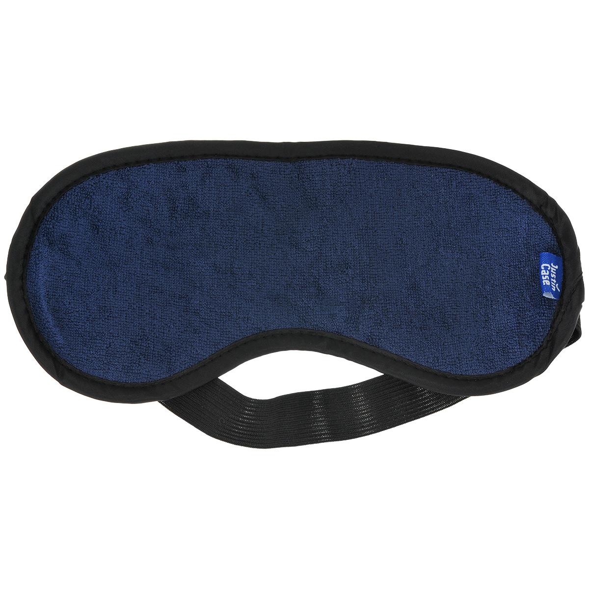 Маска для сна JustinCase, цвет: синий, черныйE5112BМаска для сна JustinCase надежно защитит ваш крепкий сон, а ее приятная текстура обеспечит максимальный комфорт. Благодаря резинке маска имеет универсальный размер. Спите с комфортом, где бы вы ни были! Размер рабочей части: 21,5 см х 9 см.