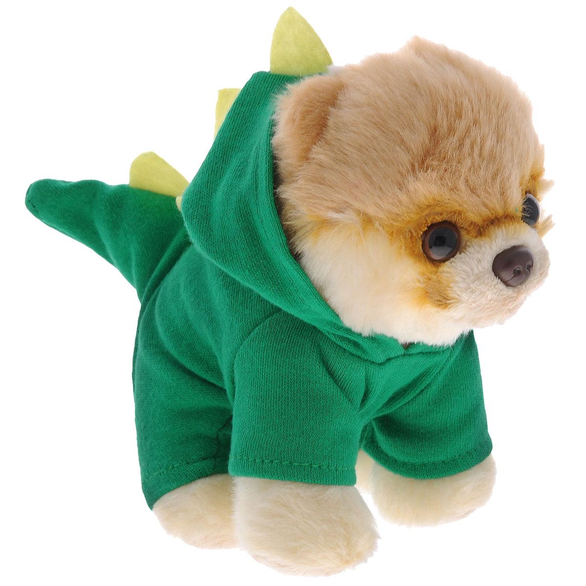 Мягкая игрушка Gund Boo-Rex, 12,5 см4048569Мягкая игрушка Gund Boo-Rex выполнена из безопасных материалов в виде очаровательного шпица в зеленом костюмчике с капюшоном в виде дракончика. Игрушка Gund Boo-Rex отличается от других реалистичным внешним видом, напоминающим настоящего питомца. Только посмотрите на эту милую мордашку, которая так приветливо смотрит на вас. Такая игрушка вызывает умиление не только у детей , но и у взрослых. Великолепное качество исполнения делают эту игрушку чудесным подарком к любому празднику.