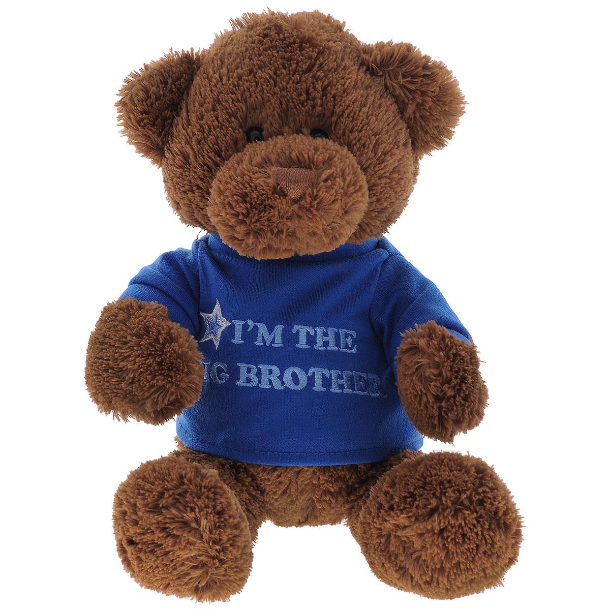 Мягкая игрушка Gund Big Brother, 29 см320153Мягкая игрушка Gund Big Sister, выполненная в виде медвежонка коричневого цвета в синей кофте. Игрушка вызовет умиление и улыбку у каждого, кто ее увидит. Удивительно мягкая игрушка принесет радость и подарит своему обладателю мгновения нежных объятий и приятных воспоминаний. Великолепное качество исполнения делают эту игрушку чудесным подарком к любому празднику.