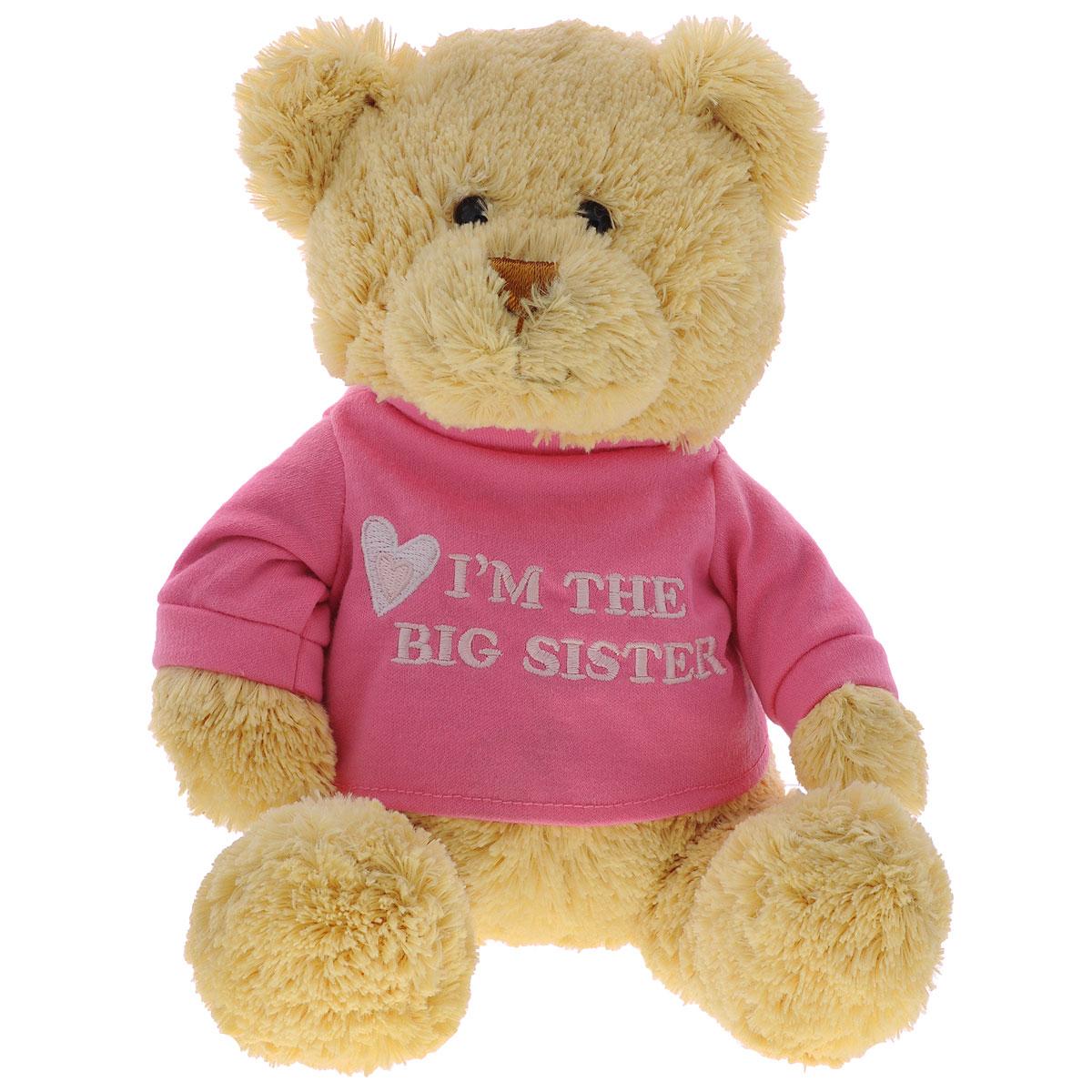 Мягкая игрушка Gund Big Sister, 29 см320154Мягкая игрушка Gund Big Sister, выполненная в виде медвежонка бежевого цвета в розовой кофте. Игрушка вызовет умиление и улыбку у каждого, кто ее увидит. Удивительно мягкая игрушка принесет радость и подарит своему обладателю мгновения нежных объятий и приятных воспоминаний. Великолепное качество исполнения делают эту игрушку чудесным подарком к любому празднику.