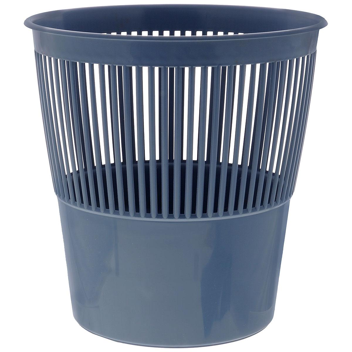 Корзина для бумаг Стамм выполнена из высококачественного пластика и предназначена для сбора мелкого мусора и бумаг. Стенки корзины оформлены перфорацией. Удобная компактная корзина прекрасно впишется в интерьер гостиной, спальни, офиса или кабинета.