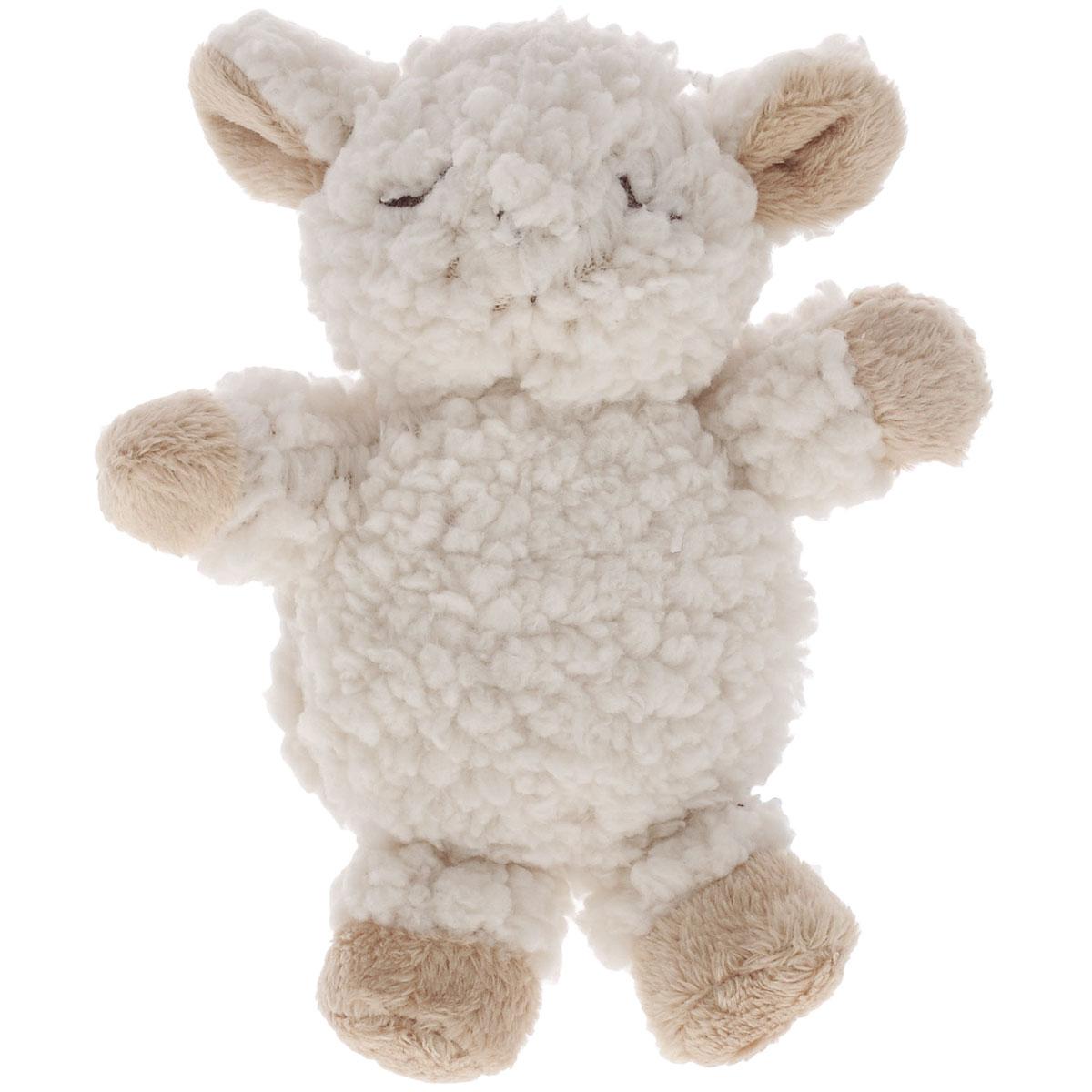Игрушка-погремушка мягкая Cloud b Овечка, цвет: белый, бежевый, 13 см7301-ZZ-RUОчаровательная мягкая игрушка Овечка не оставит вас равнодушным и вызовет улыбку у каждого, кто ее увидит. Игрушка выполнена из полиэстера в виде симпатичной овечки. Внутри овечки пластиковый элемент, который при потряхивании создает приятный негромкий звук, благодаря чему игрушку можно использовать в качестве погремушки. Плюшевые погремушки специально предназначены для того, чтобы маленькие пальчики развивались, хватая их. Погремушка идеально ложится в ручку, и ей можно трясти во время игр. Милые, мягкие и безопасные игрушки отличаются реалистичным внешним видом, напоминающим настоящего питомца. Только посмотрите на эту милую мордашку, которая так приветливо смотрит на вас. Разве можно устоять перед ее обаянием?