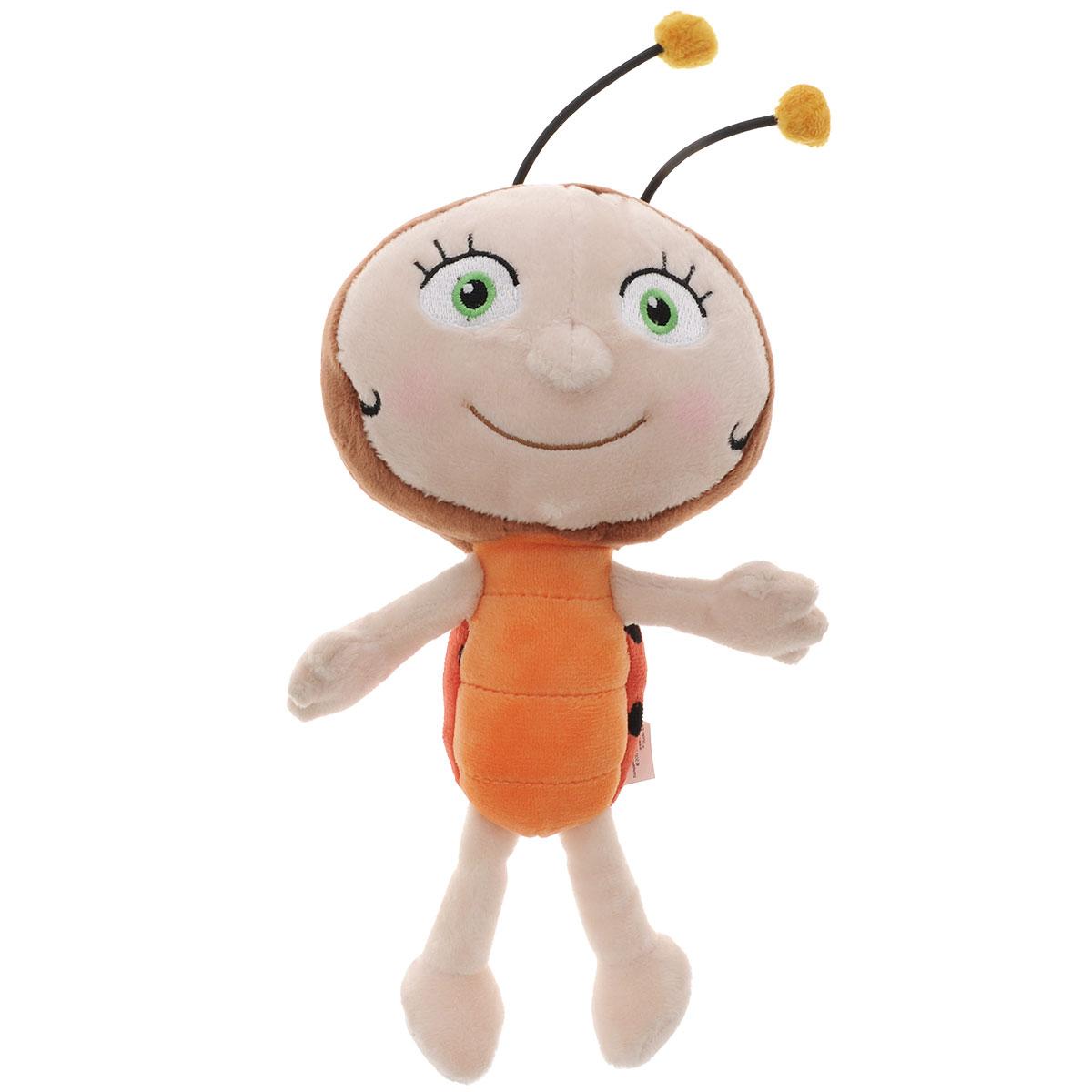 Игрушка мягкая Пчелка Майя Лара, цвет: бежевый, коричневый, 23 см. GT6454GT6454Мягкая игрушка Лара выполнена очень качественно и реалистично, очень приятная на ощупь. Понравится маленьким любителям известного мультфильма Приключения пчелки Майи. Игрушка русифицирована, Лара поет песенку из мультфильма и говорит 7 фраз. Для работы игрушки необходимы 2 батарейки типа АА (входят в комплект).