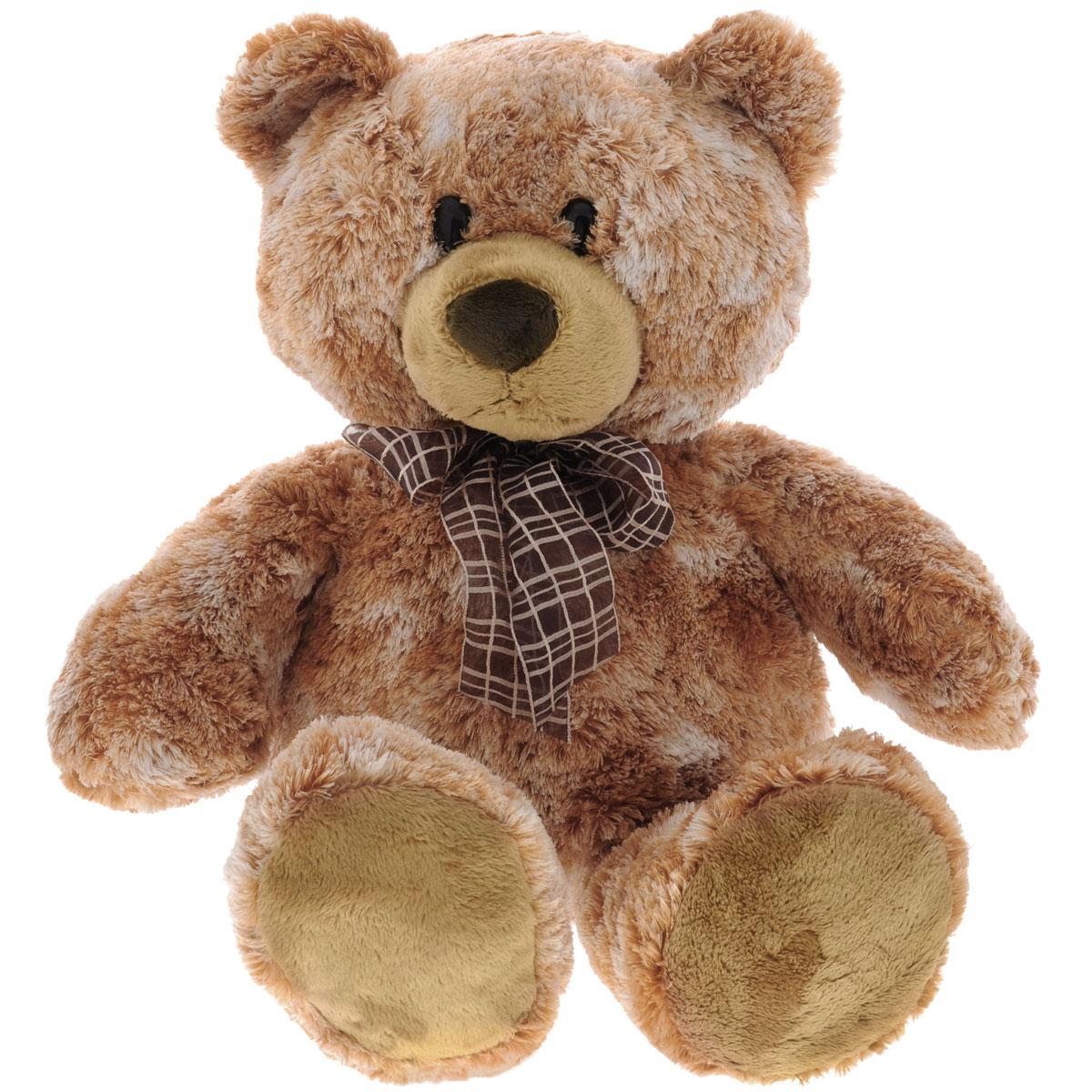 Игрушка мягкая Aurora Медведь сидячий, цвет: оранжевый, белый, 48 см. 214/2214/2Очаровательная мягкая игрушка Медведь сидячий не оставит вас равнодушным и вызовет улыбку у каждого, кто ее увидит. Игрушка выполнена из синтепона в виде милого медвежонка с бантиком на шее. Милые, мягкие и безопасные игрушки отличаются реалистичным внешним видом, напоминающим настоящего питомца. Только посмотрите на эту милую мордашку, которая так приветливо смотрит на вас. Разве можно устоять перед ее обаянием? Конечно нет, да и не нужно! Такая игрушка вызывает умиление не только у детей, но и у взрослых. Поэтому она станет отличным подарком не только ребенку, но и друзьям!