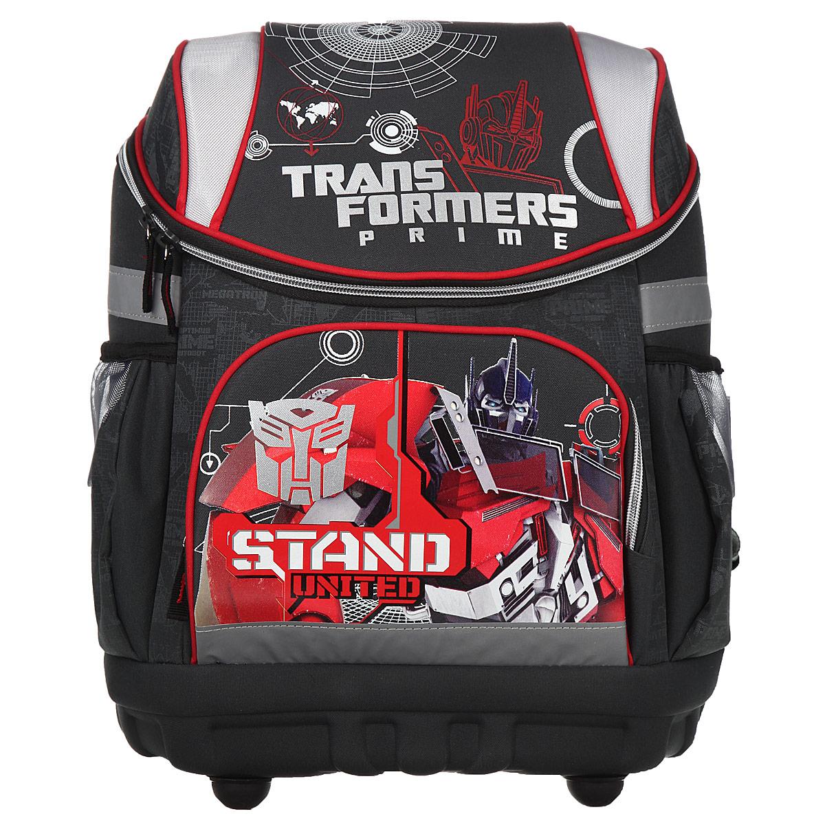 "Academy Style Рюкзак детский Академия Групп ""Transformers Prime"", цвет: серый, красный. TRAB-UT1-135"