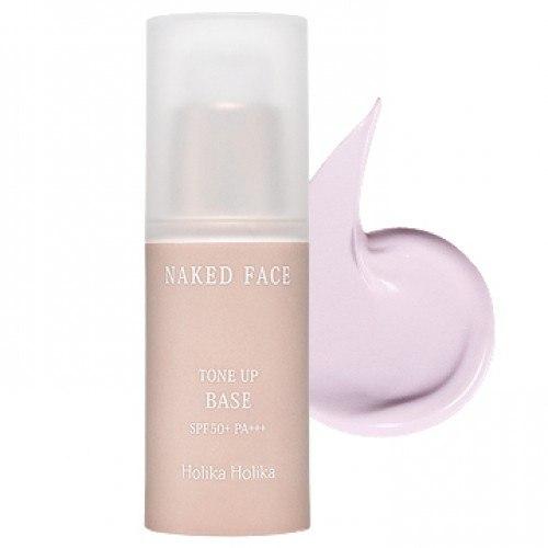 Holika Holika Выравнивающая база под макияж Naked Face SPF50 PA+++, 20 мл